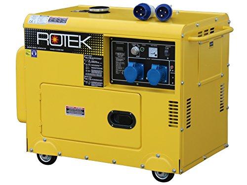 Rotek Diesel Stromerzeuger GD4SS-1A-6000-EBZ (6,0 kVA / 5,0kW 230V 50Hz 1-phasig)