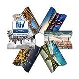 TÜV geprüfte RFID & NFC Kreditkarten-Schutzhülle (6 Stück) super dünn & robust für 100% Datenschutz - Motive (Stadt)