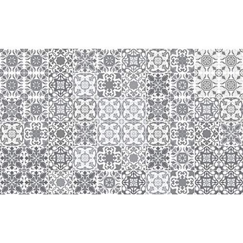 Ambiance-Live 60Aufkleber Fliesen | Sticker Selbstklebend Fliesen–Mosaik Fliesen Wandtattoo Badezimmer und Küche | Fliesen Kleber–Vintage Graustufen–10x 10cm–60-teilig
