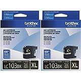 Brother Printer LC103BK High Yield Ink Cartridge, Black (2, Black)