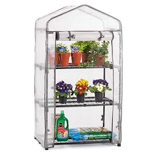 CHRISTOW Mini Greenhouse 3 Tier, Small Portable Garden Growhouse,...