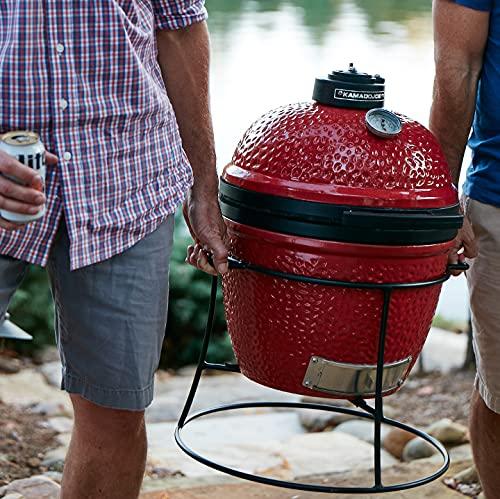 Kamado Joe Jr. KJ13RH Charcoal Grill 13.5 inch Blaze Red