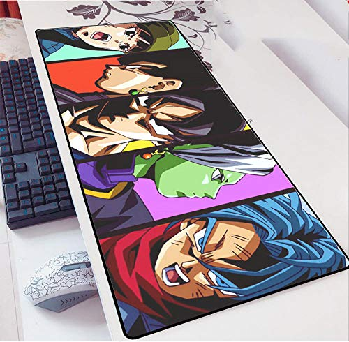 Dragon Ball Mauspads Gaming Mausmatte Büro Schreibtischmatte, 900 * 400MM PU Leder Schreibtisch Laptop Schreibtischmatte, wasserdichte Schreibtisch Schreibblock für Büro und Zuhause-A_800*300 * 3MM