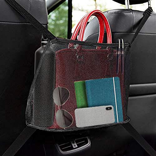 Car Net Pocket Handbag Holder, Organizer Sedile Auto Bambini, Organizer Auto dell'Organizzatore e Pocket per Riporre Documenti Telefono Tasca E Barriera Del Sedile Posteriore Per Bambini Pet, Nero