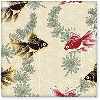 Painting Japanese Culture Fish Water Ceramic Bisque Tiles Bathroom Decor Kitchen Ceramic Tiles Wall Tiles