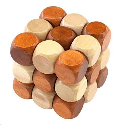 KOTiger Moda DIY tres capas de inteligencia de madera cubos rompecabezas niños juguetes regalos
