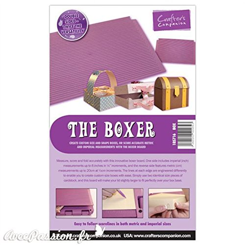 Crafters's Companion The Boxer - Plancha para hacer cajas, (1 unidad, accesorio para maletín Ultimate Pro)