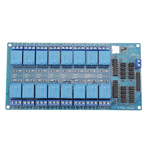 CAIJINJIN Módulo 16 Módulo de relé Carretera/Canal con LM2576 Fuente de alimentación con Luz de Acoplamiento for Arm DSP PIC AVR for Raspberry Pi B62