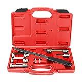 GOTOTOP 8pcs Set de Herramientas de Compresor de Muelles de Válvula Herramienta de Reparación con 3 Adaptadores de Válvula 34mm/26mm/20mm