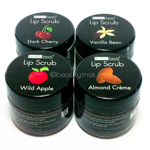 Lip Scrub With Antioxidants and Vitamin E 4 pcs Set All 4 Different Flavors