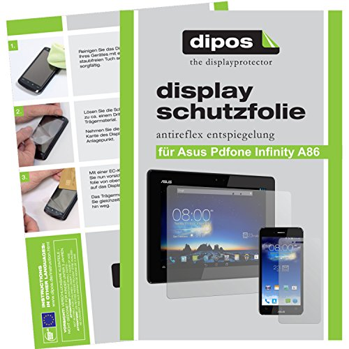 dipos I 6X Schutzfolie matt kompatibel mit Asus Padfone Infinity A86 Folie Displayschutzfolie