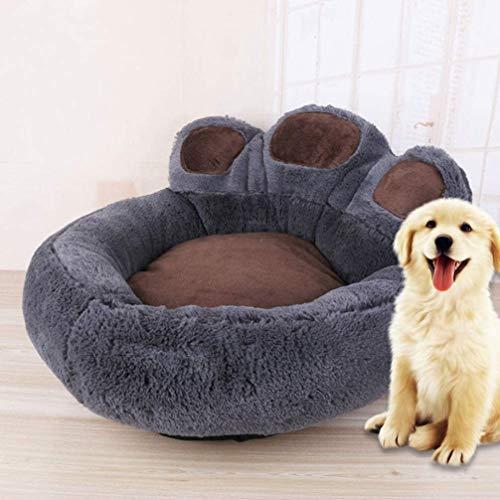 Huldoro Brillo Nombre: Brown, cama suave for gatos y perros Pequeña Mediana pata de oso de felpa perro fuerte anidamiento Cama del gato cojín del sofá grande Cuddler cama durmiendo Mat gatito del perr