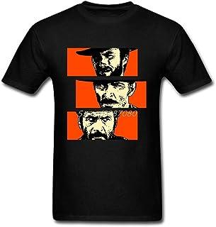 クリント·イーストウッド良い悪い醜いtシャツ半袖メンズtシャツヒップホップkpop綿クルーネックプラスサイズ面白いtシャツ