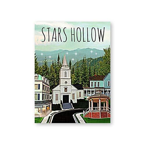 A&D Gilmore Girls Poster und Drucke Stars Hollow Poster Inspiriert von Leinwand Malerei Wandkunst Bild Wohnzimmer Home Decor -50x70cmx1pcs -Kein Rahmen
