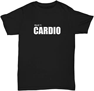 Zombieland Rule #1 Cardio Funny Gift Shirt Number One Zombie Land Zombies Sarcastic Movie Quote Hoodie Tank Top - Unisex Tee Black