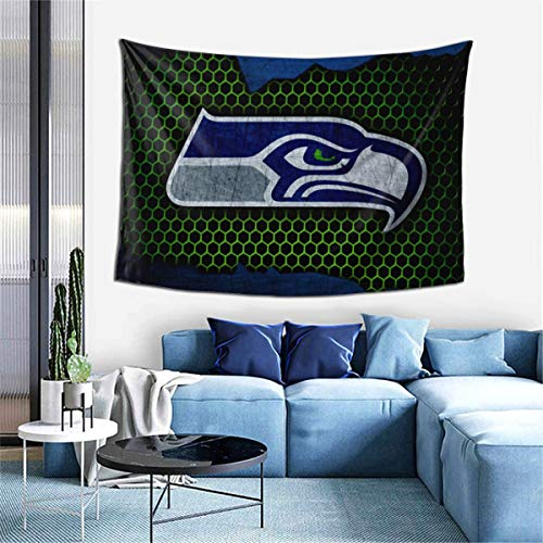 Kaq Liuww Seattle Seahawks Living-Room Bedroom Room Decor Wall Tapestry Wall Hanging Tablecloth Bedspread 60x40inches