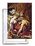Unified Distribution Peter Paul Rubens - Samson und Delila - Klassisches Gemälde - Replik auf Leinwand 100x70 cm