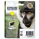 Epson T089 Serie Scimmia, Cartuccia Originale Getto d'Inchiostro DURABrite Ultra, Formato Standard, Giallo, con Amazon Dash Replenishment Ready
