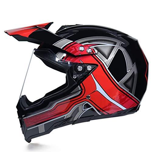 Casco De Moto De Descenso para Adultos Deporte Extremo Al Aire Libre Casco Integral De Carretera Motocross Dh Racing Gorras De Protección De Seguridad