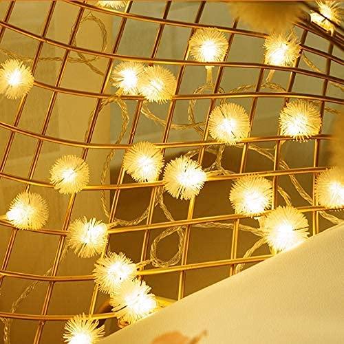 DYB Linternas de antorcha Luces de Cuerda Bola de luz Solar LED Lámpara de Guirnalda de Cadena Copos de Nieve Hada LED