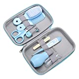 8 Unids/set Kit de Cuidado de la Salud del Bebé Kit de Aseo Portátil para Bebé Recién Nacido Cortadora de Uñas Tijeras Cepillo de Pelo Peine Conjunto de Cuidado de Seguridad Cuidado del Bebé
