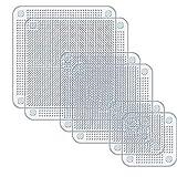 HUI JIN - Cubiertas de Silicona Reutilizables para Alimentos y Tapas elásticas...