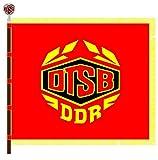 DIPLOMAT Flagge DTSB, DDR bis 1990 | Querformat Fahne | 0.06m² | 20x30cm für Flags Autofahnen