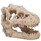 Pssopp Adorno De Calavera De Acuario Resina De Acuario Adorno De Calavera Emulacional Esqueleto Ocultar Cueva Acuario Reptil Vivarium Decoración Subacuática