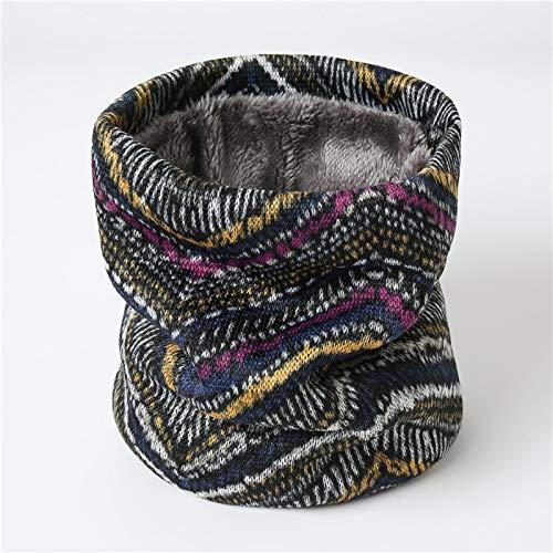 Bufanda De Anillo con Estampado De Moda para Mujer, Bufandas De Redecilla con Cuello De Invierno para Mujer, Bufandas De Piel Cálida Geométrica Unisex para Mujer, BU