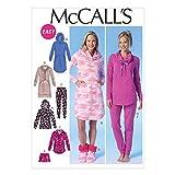 McCall's Damen-Schnittmuster 7061 Pyjamas, Nachtkleid und Hausschuhe