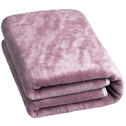 Asciugamani da Bagno Microfibra Composto da 1 asciugamano da bagno Asciugamani in microfibra per Hotel e Spa, Massima Morbidezza e assorbenza 600 gsm (70x 140 cm Viola)