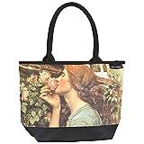 VON LILIENFELD® Bolsa Compra Shopper Grande de Playa Bandolera Mujer Arte John W. Waterhouse: My sweet Rose