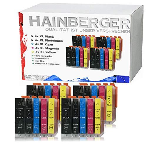 20x Hainberger XXL Patronen kompatibel zu Canon PGI-520 XL + CLI-521 für Pixma Pixma iP3600 iP4600 iP4700 MP540 MP550 MP560 MP620 MP630 MP640 MP980 MP990 MX860 MX870