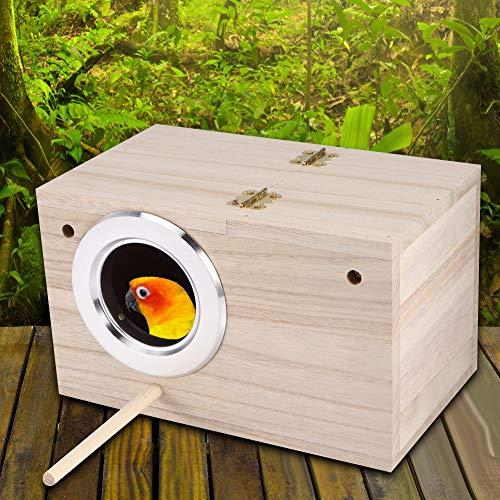 Fdit Maison d'oiseau Maison d'oiseau en Bois Boîte d'incubation Chaude pour l'élevage d'oiseaux (4,7 x 4,7 x 7,7 Pouces)
