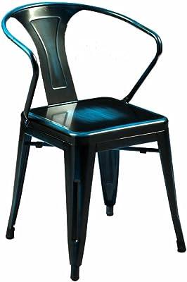 Amazon.com: Silla industrial, sillas de bar, sillones de ...