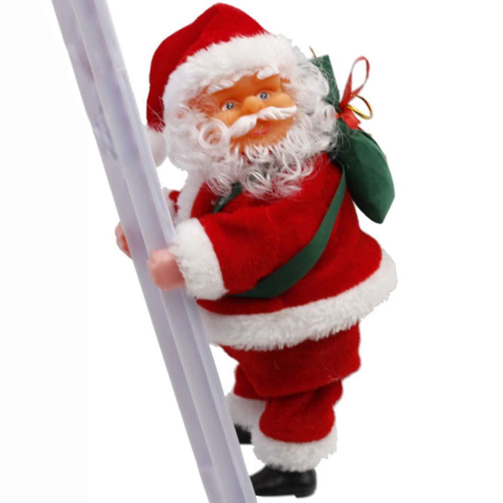 P12cheng Escalera de Papá Noel con Control de batería, Juguete de Escalada, Regalo para bebé, Fiesta de cumpleaños, Juguetes de Navidad para niños: Amazon.es: Hogar