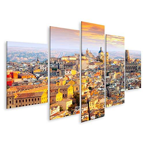 Cuadro en Lienzo Vista del Amanecer Toledo Castilla La Mancha España Cuadros Decoracion Impresión Salon