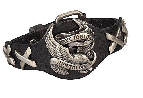 Coquelicot et Coccinelle Bracelet Style Punk, Accessoires de