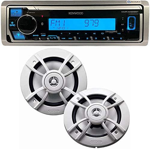 Kenwood PKG MR328BT Receiver Package 6 1 2 Marine Speaker KMR M328BT KFC 1633MRW product image
