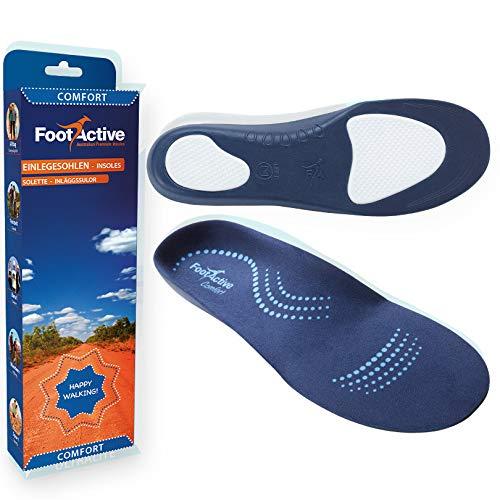 FootActive Comfort - Original Marken Einlegesohlen - Herrlicher Laufkomfort für Füße, Beine und Rücken, speziell bei Fersensporn, Blau, 39 - 41 (S)