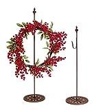 Darice Standing Metal Wreath Hanger - Rusted