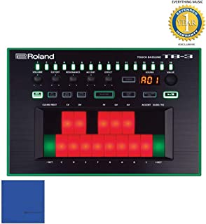 Roland Touch Baseline Performance-Ready Bass Synthesizer TB-3 with Microfiber and 1 Year EverythingMusic Extended Warranty