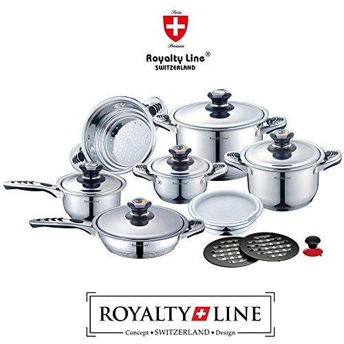 Royalty Line Switzerland Batteria Pentole 16 pezzi...