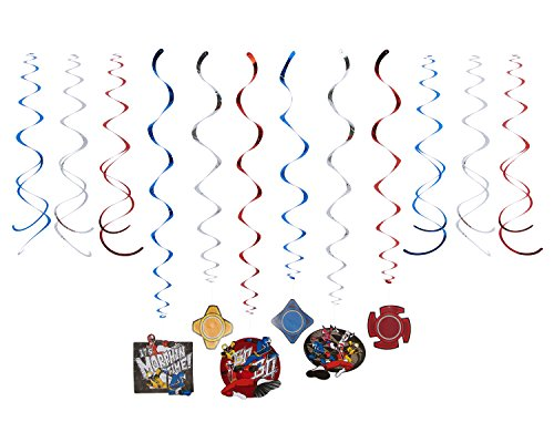 American Greetings Power Rangers Party Supplies, Hanging Party Decorations (12-Count)