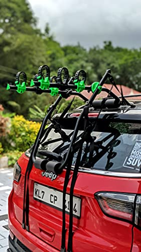 explore Premium 3 Cycle Carrier for Cars   Rear Mounted car Bike Rack