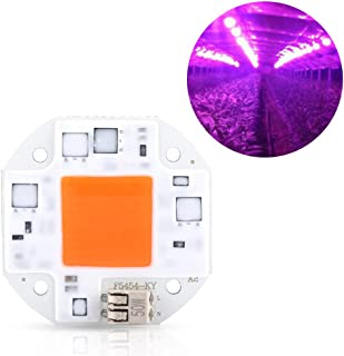 High Power LED Chip, Full Spectrum COB Chip COB LED Chip Plant Grow Light SMD Emitter Diode Components for DIY Hydroponic Flowers Growing Lamp(AC100-260V)(50W)