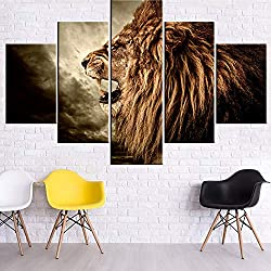 Roaring Lion Painting