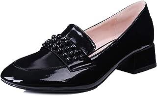 Robasiom Women's Low Heel Chunky Pumps Shoes Women's Dress Shoes Ankle Comfortable Office Walking Heel Dress Pump