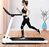 Electric Folding Treadmill, Portable Folding Electric Motorized Treadmill with 220 Lbs Weight Capacity