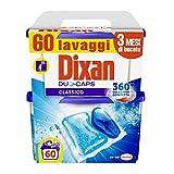 Dixan Duo Caps Classico, Detersivo Lavatrice Pre Dosato in Capsule con Tecnologia Pulito P...